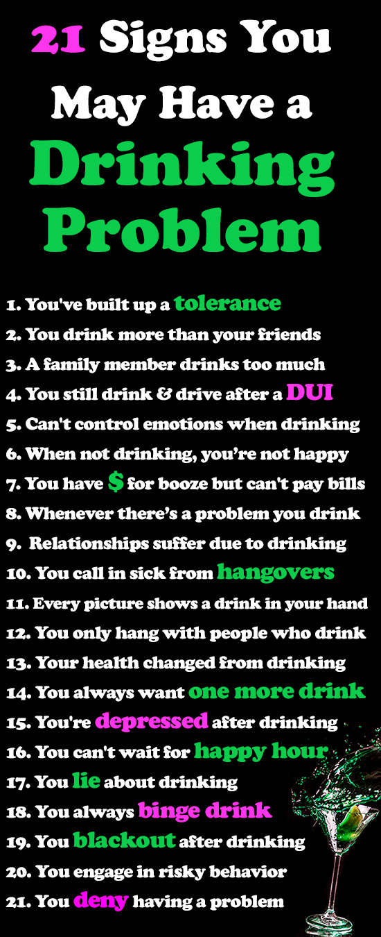 21 Signs You May Have a Drinking Problem