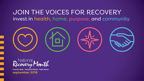 September is National Recovery Month 2018