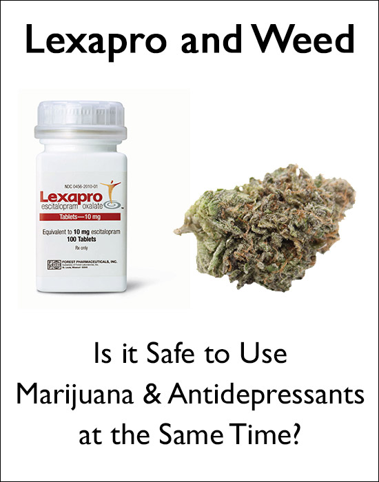 Lexapro and Weed - Is it Safe to Use Marijuana and Antidepressants at the Same Time?